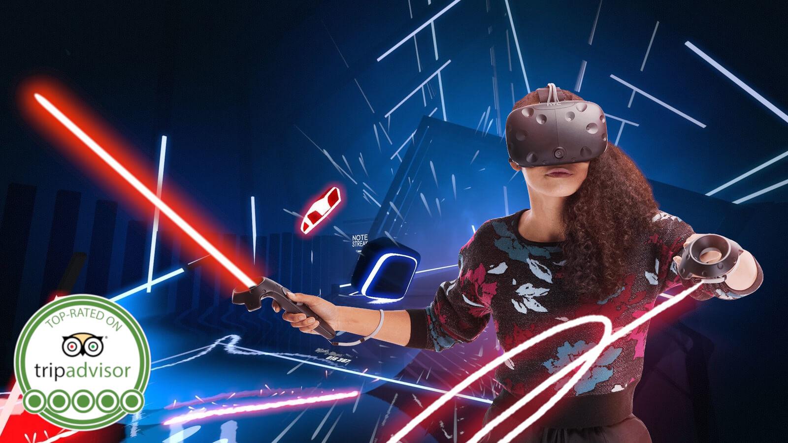 VR Beat Saber Girl